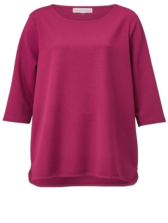 Sweatshirt aus strukturiertem Material