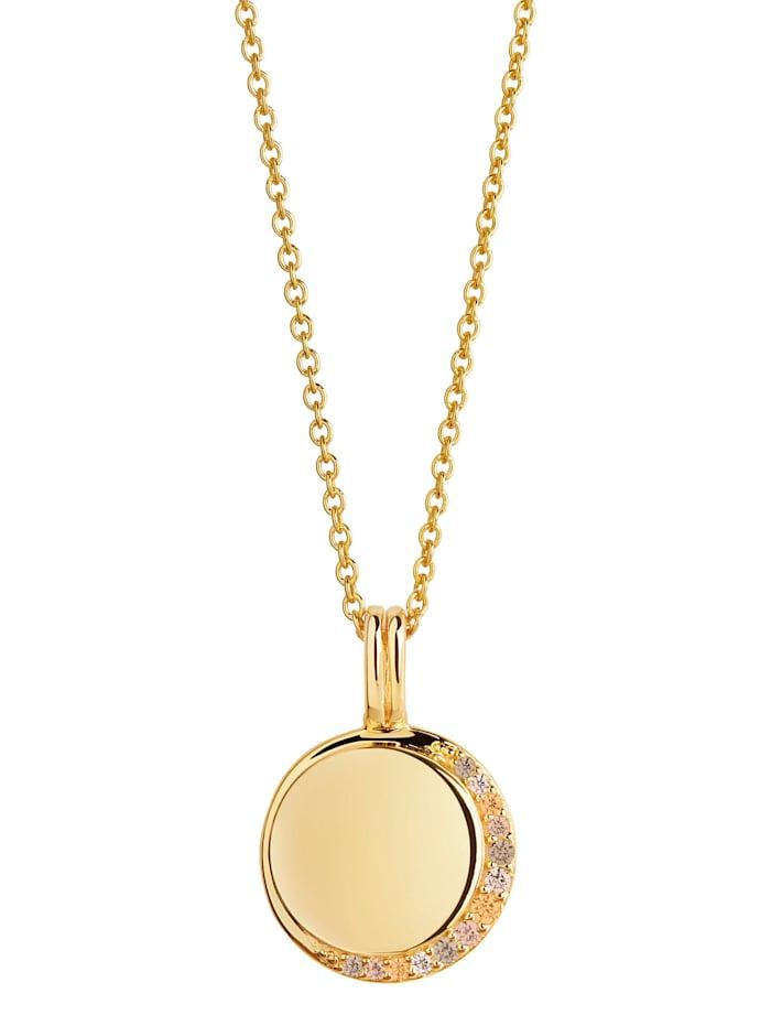 Sif Jakobs Sif Jakobs Jewellery Damen-Kette 925er Silber Zirkonia, gold/braun