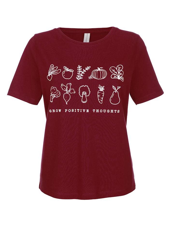Dress In Shirt mit Frontprint, Brombeere
