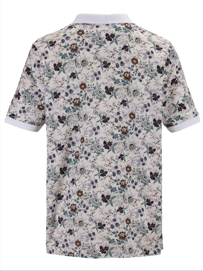 Poloshirt mit angesagtem Druckmuster