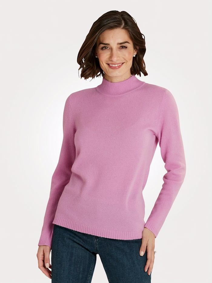 MONA Pullover aus reinem Kaschmir, Rosé