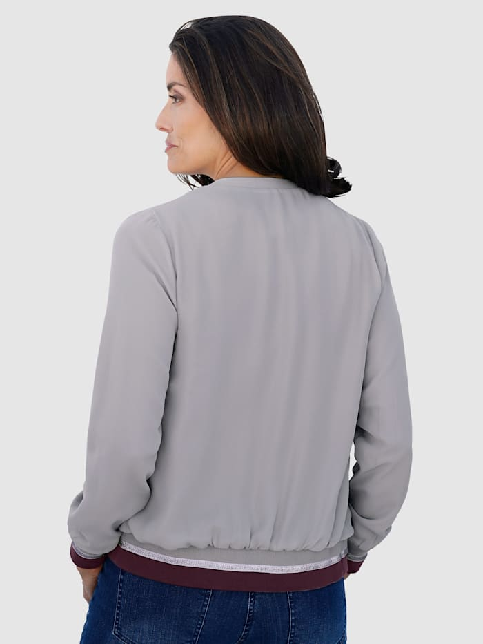 Reversible Blouson Jacket with contrasting hem and cuffs