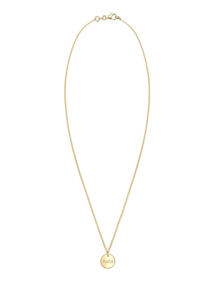 Halskette Mama Schriftzug Muttertag Gehämmert 925Er Silber