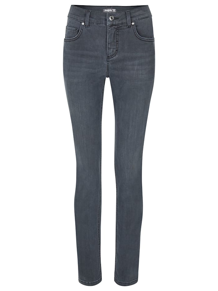 Angels Jeans 'Skinny' in Used-Waschung, grey used buffy crinkle