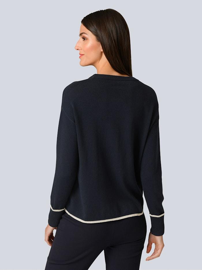 Pullover mit Glanzgarn-Detail