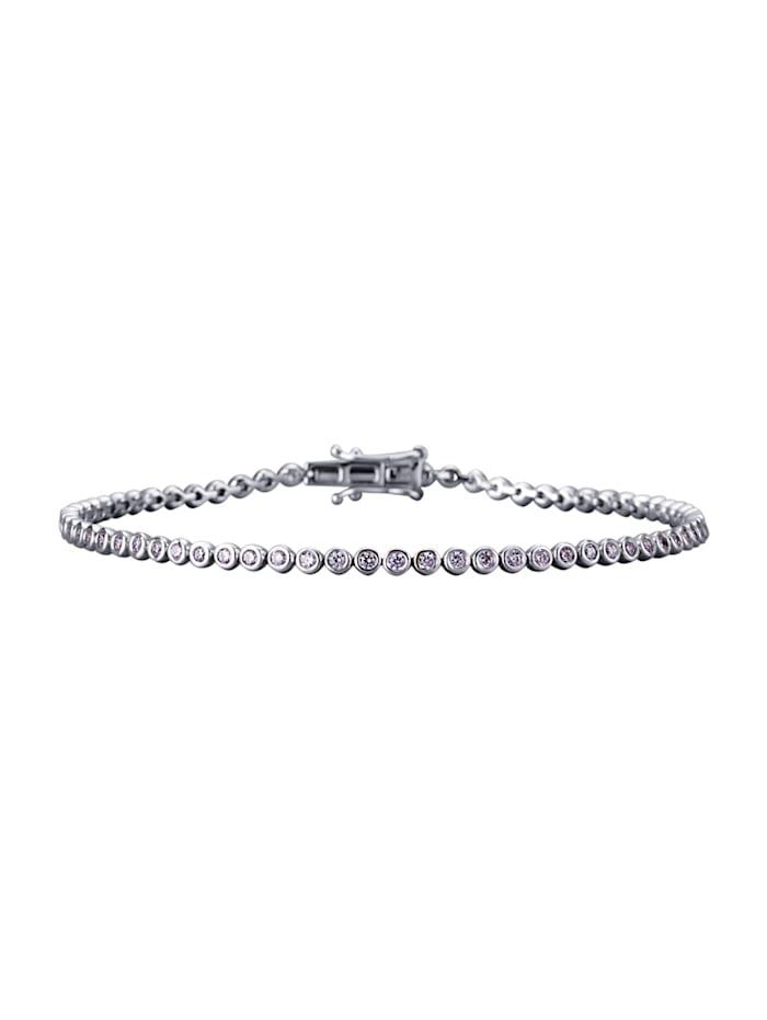 Diemer Diamant Armband mit 69 Brillanten, Weiß