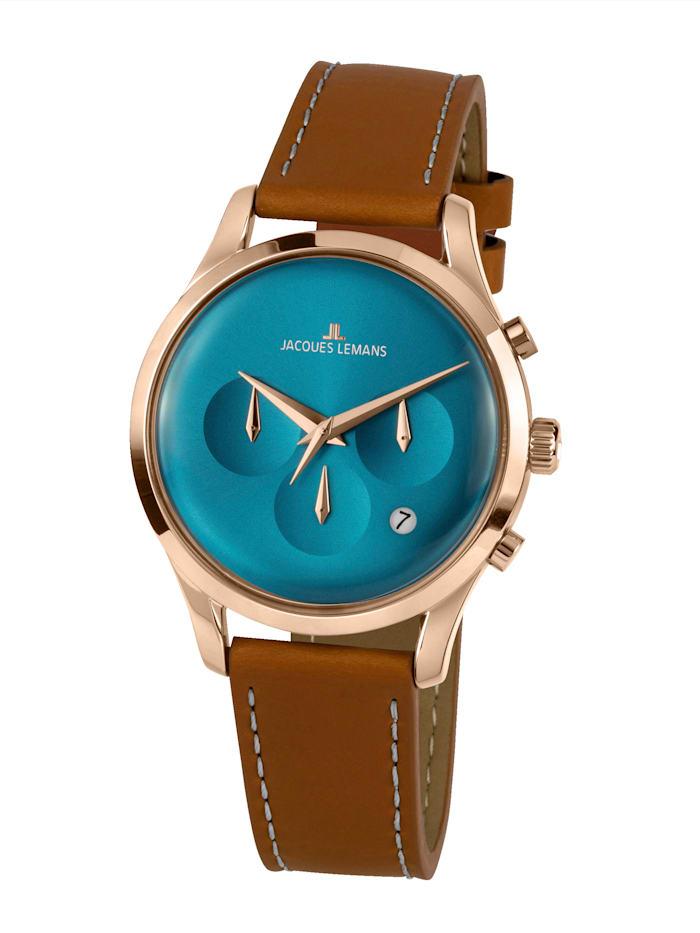 Jacques Lemans Herren-Uhr Chronograph Serie: Retro Classic, Kollektion: Retro Classic: 1- 2067F, Hellbraun