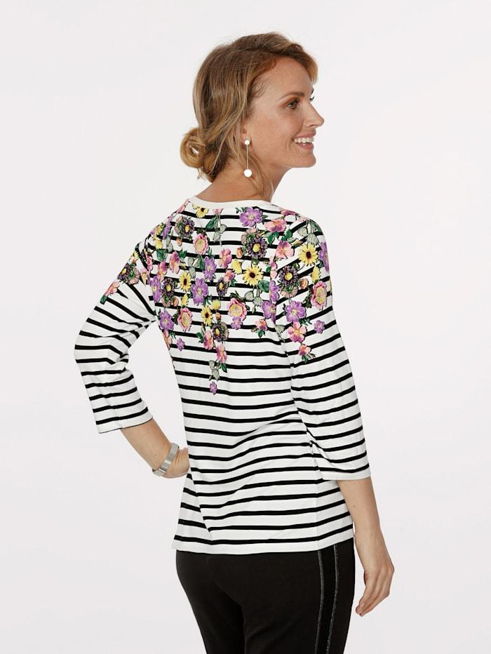 Shirt mit platziertem Blütenmotiv