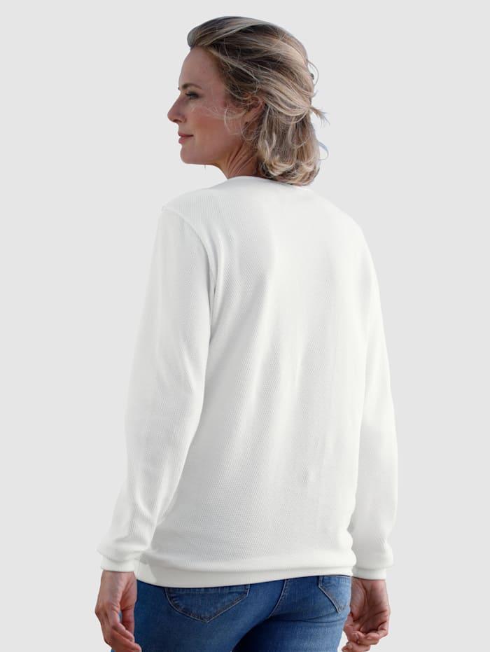 Sweatshirt met structuur
