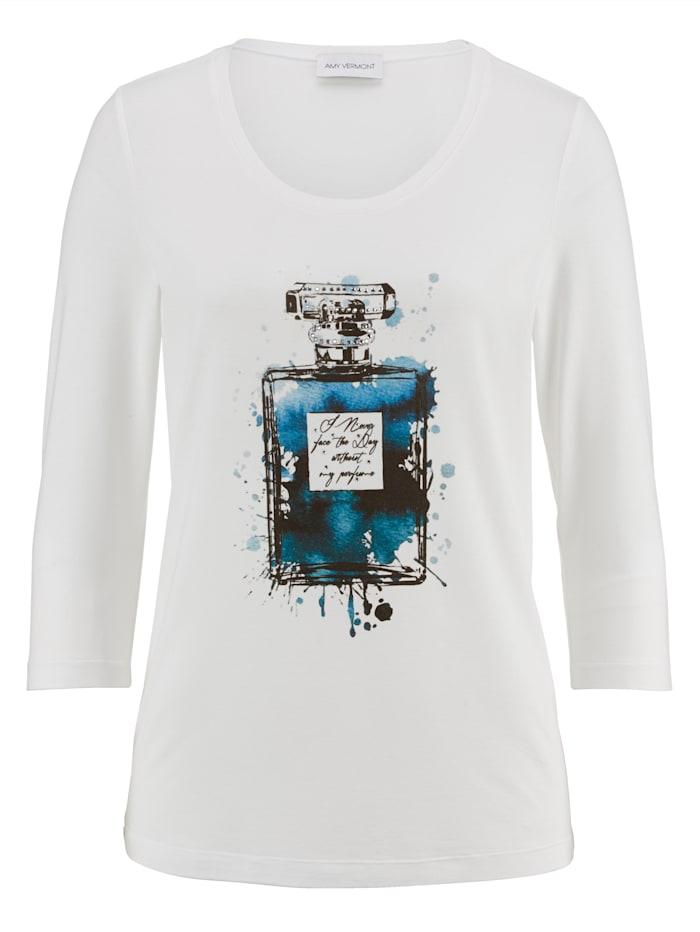 Shirt met print en strassteentjes voor