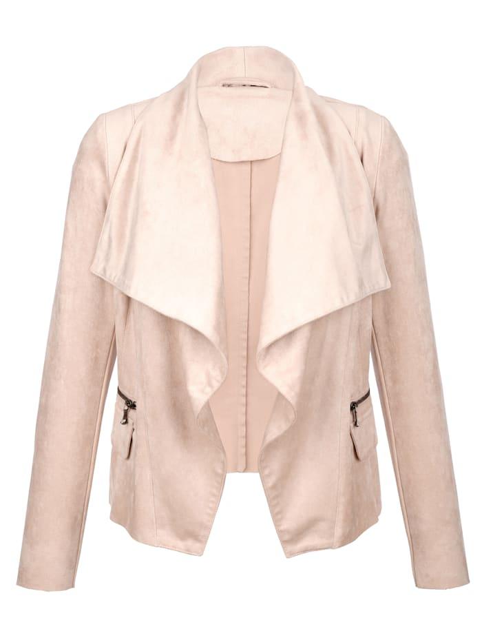 AMY VERMONT Jacke in weich fließender Qualität, Rosé