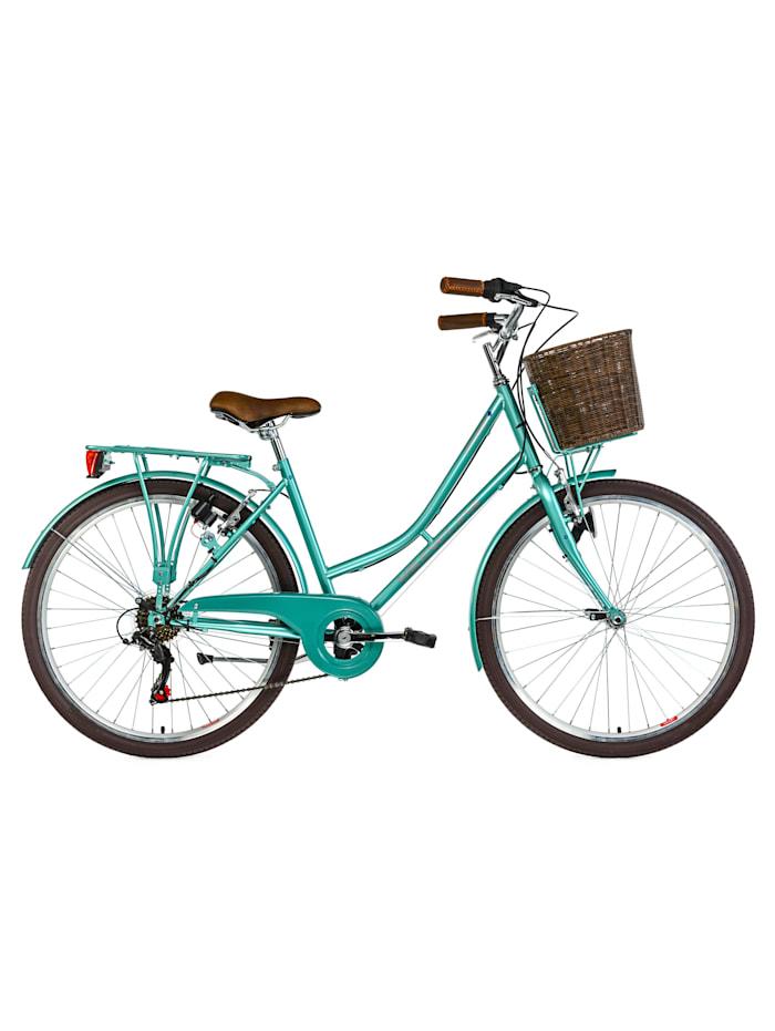KS Cycling Cityrad 6 Gänge Damenfahrrad Stowage 26 Zoll, grün