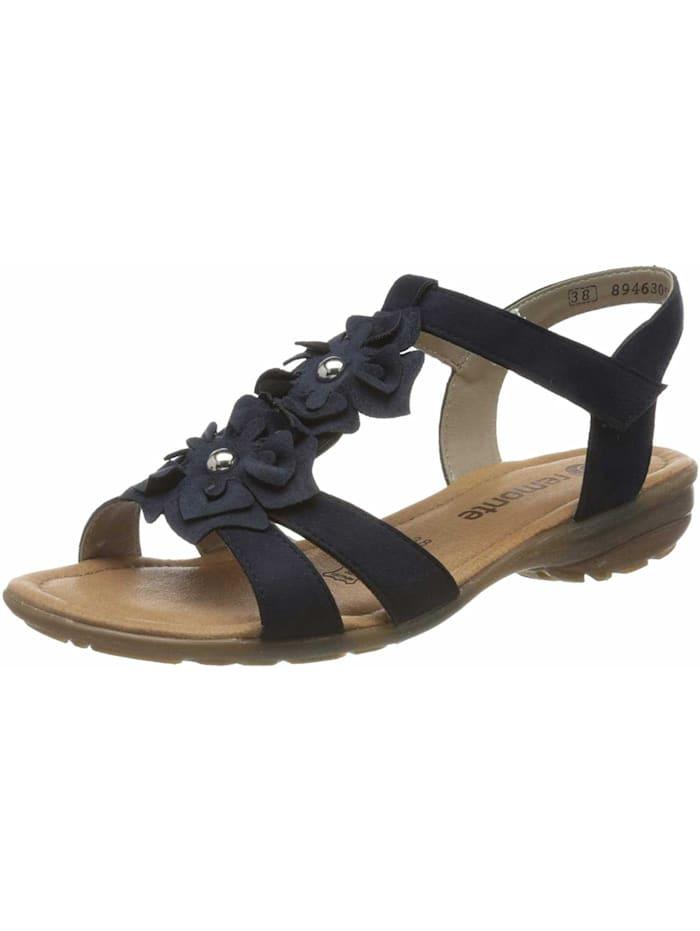 Remonte Sandalen/Sandaletten, blau