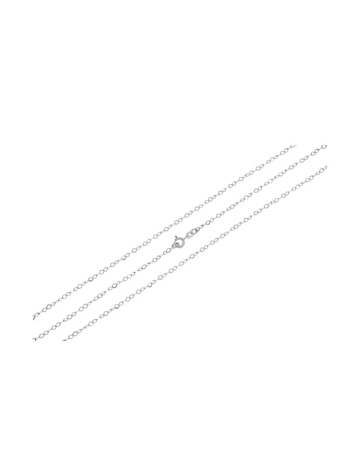 Grazielli Ankerketting van gerodineerd zilver, Zilverkleur