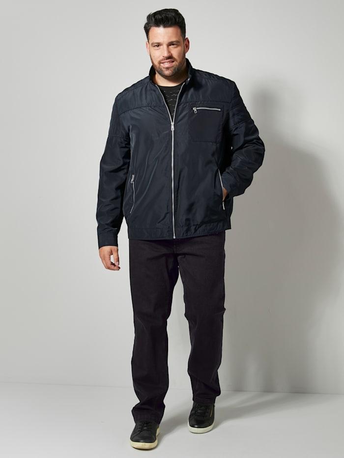 Men Plus Jacke mit Stehkragen, Marineblau