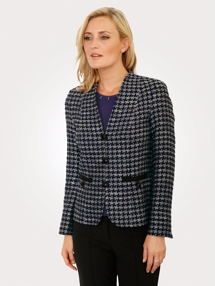 MONA Blazer with shimmering thread, Purple/Black