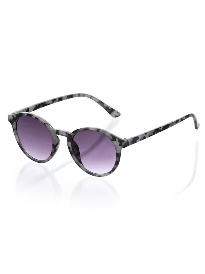 Alba Moda Sonnebrille in Leo-Optik, grau/schwarz
