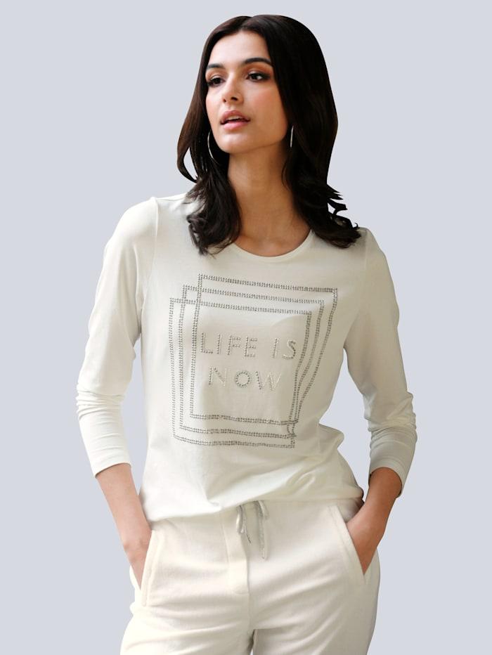 Alba Moda Shirt mit Motiv im Vorderteil, Off-white
