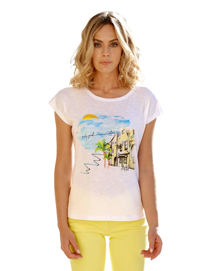 AMY VERMONT Shirt met dessin, Wit