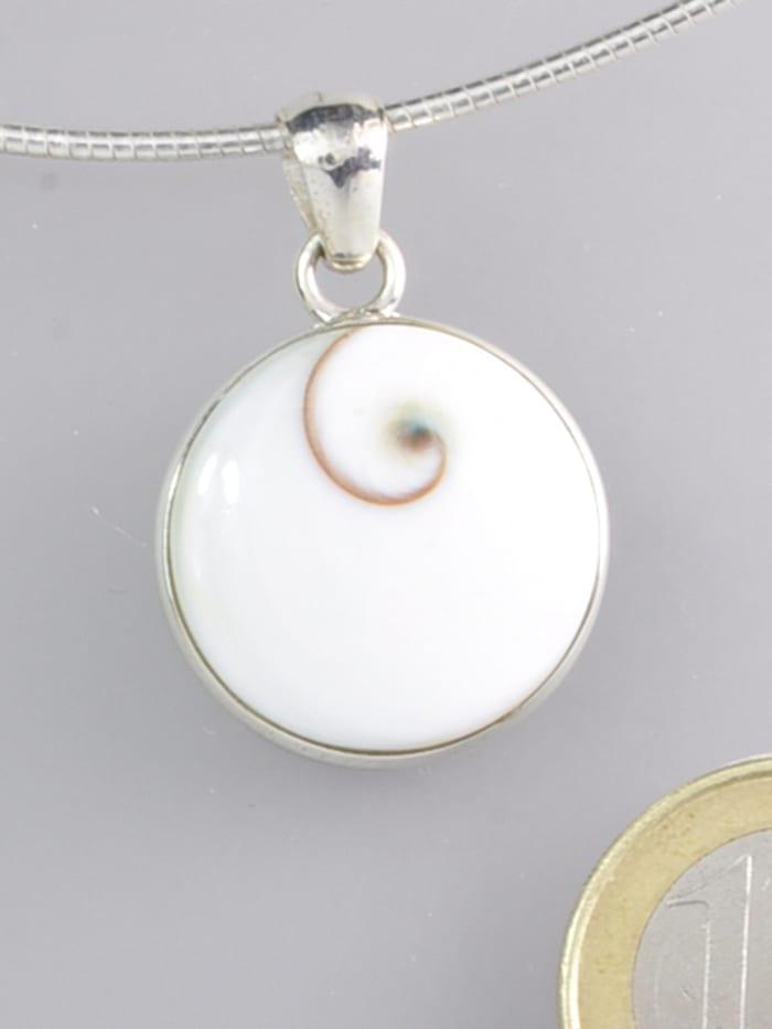 1001 Diamonds Damen Schmuck Edelstein Shiva Auge Anhänger 925 Silber grau, grau