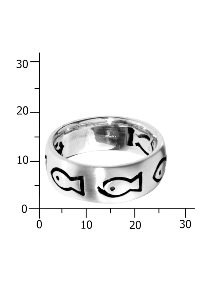 Ring - Fisch - Silber 925/000 - ,
