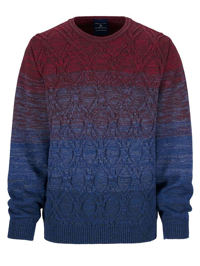 Pullover mit aufwändigem Strickmuster