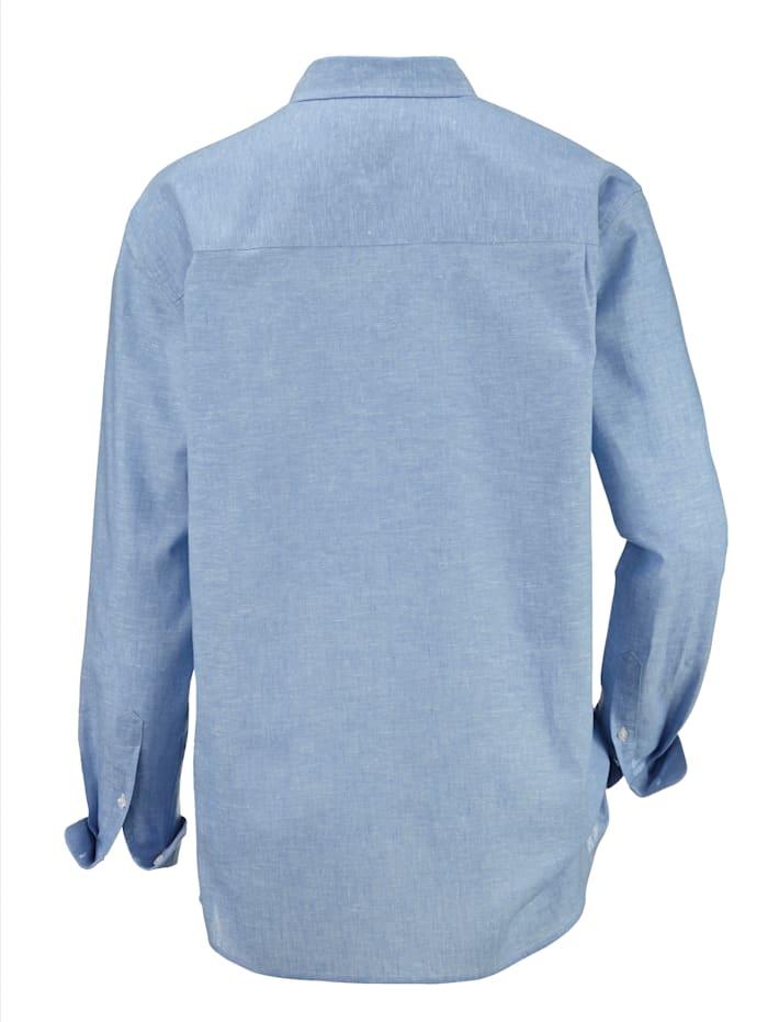 Overhemd in licht gemêleerde look