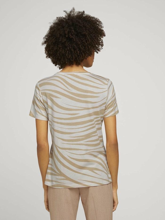 T-Shirt im Zebra-Muster