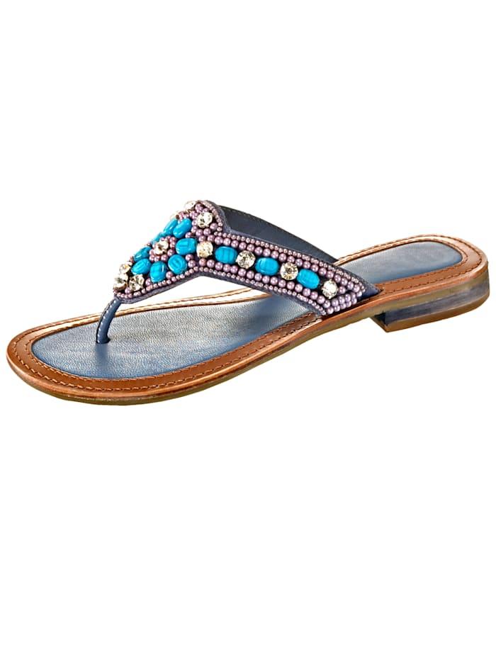 Liva Loop Tongs avec petites perles fantaisie, Bleu