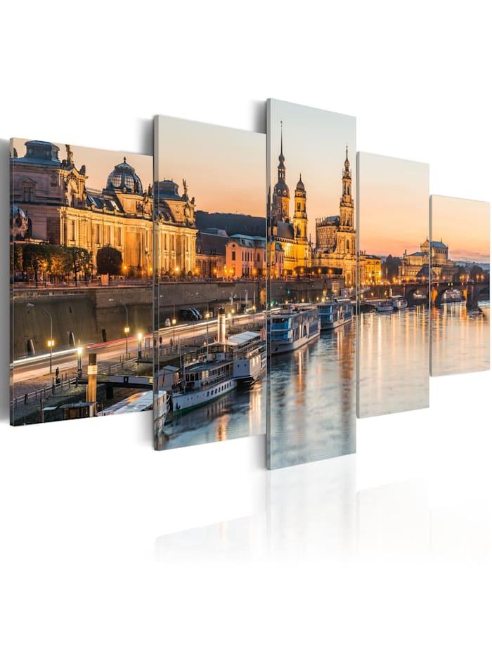 artgeist Wandbild Dresden, Germany, Beige,Grau,Orange,Gelb