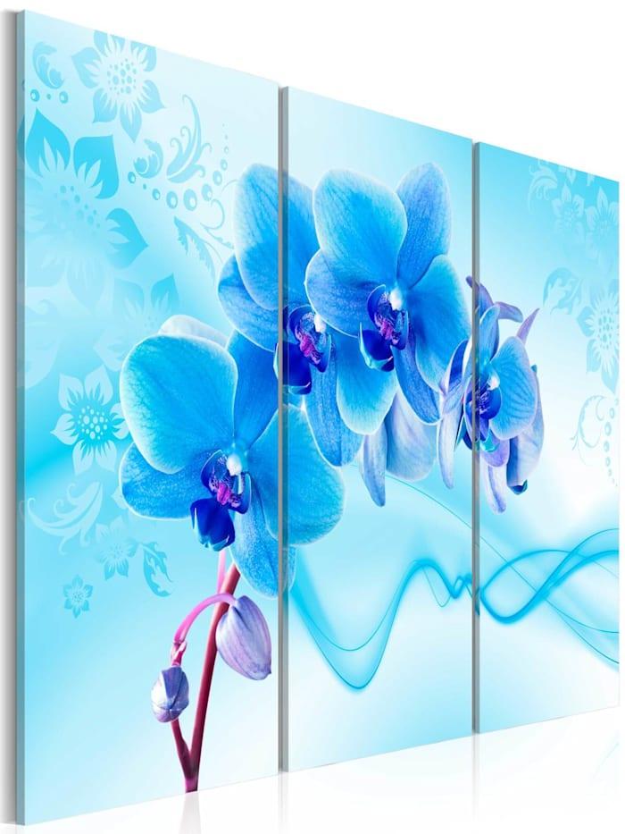 artgeist Wandbild Ethereal orchid - blue, Blau,Violett,Weiß