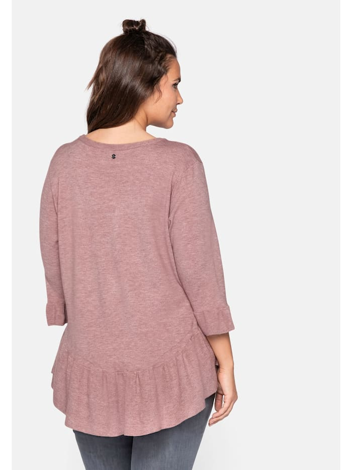 Sheego Pullover mit Volant