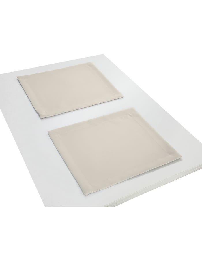 Wirth Lot de 2 sets de table 'Uni Collection', Blanc naturel