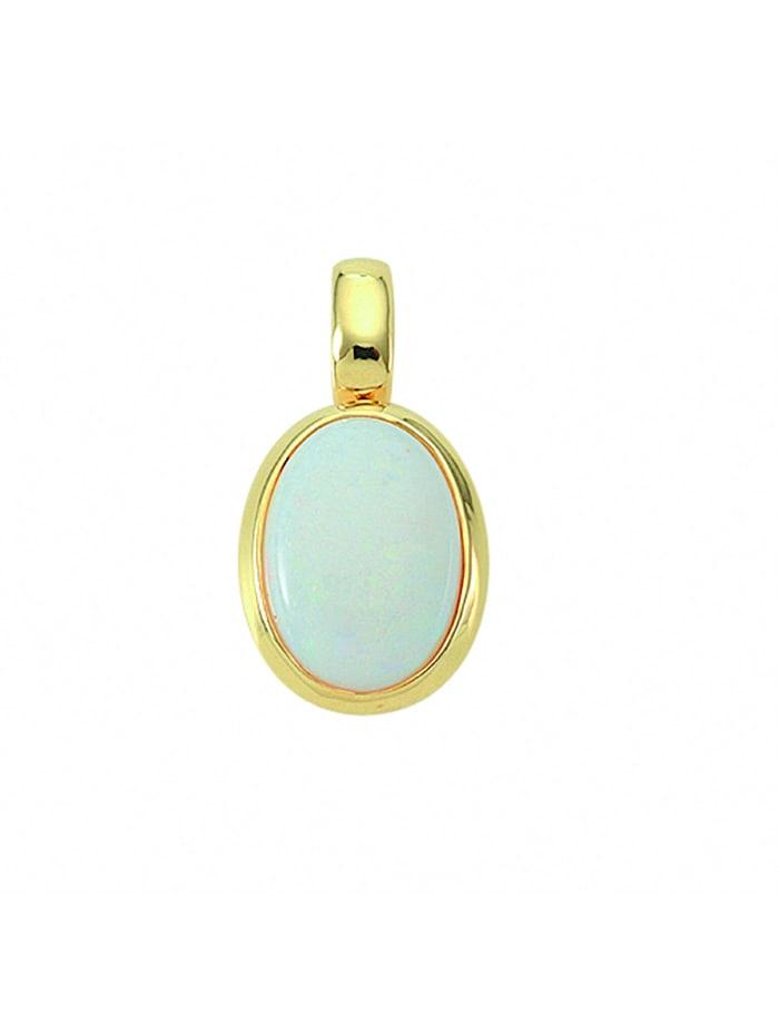 1001 Diamonds Damen Goldschmuck 585 Gold Anhänger mit Opal, blau