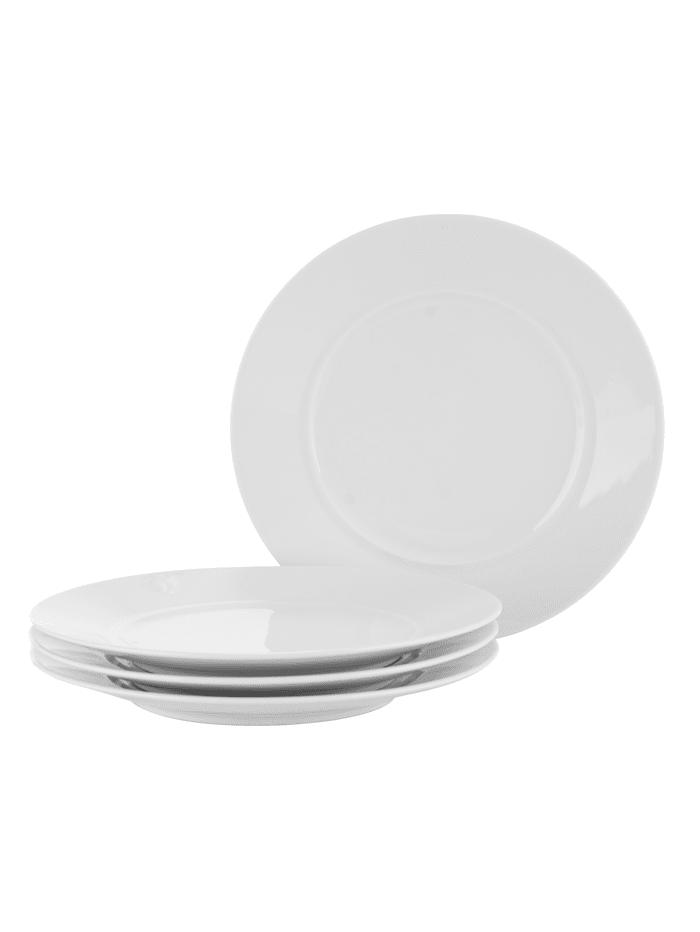 IMPRESSIONEN living Assiettes à dessert, 4 pièces, Blanc