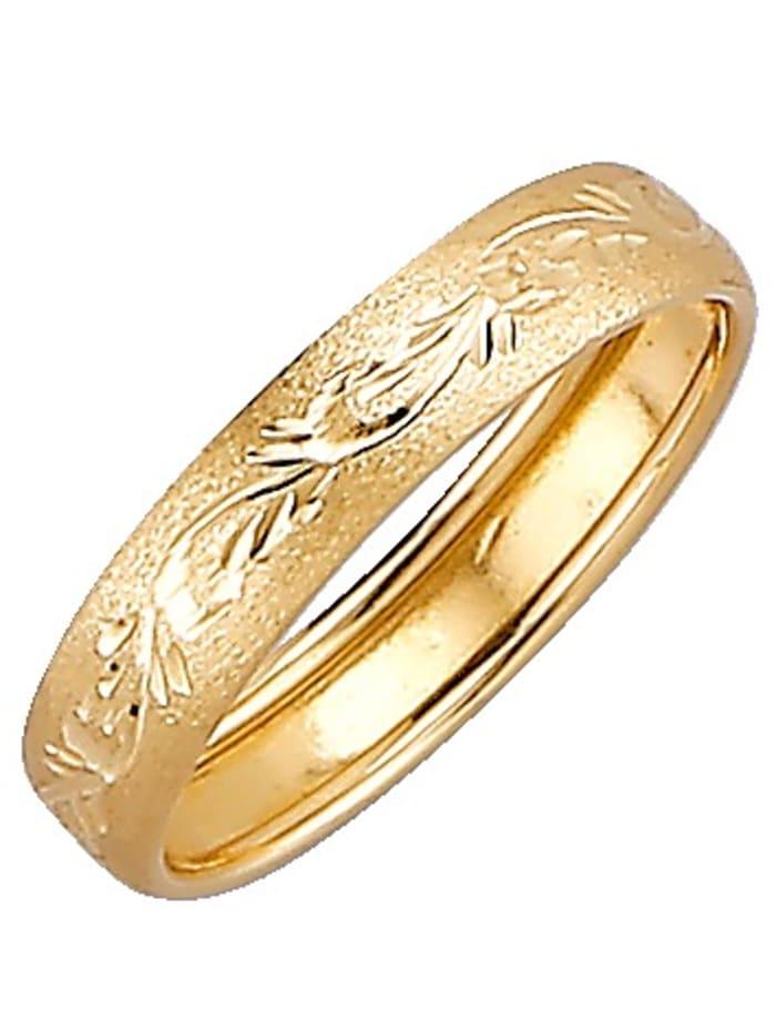KLiNGEL Bague en or jaune 375, Jaune