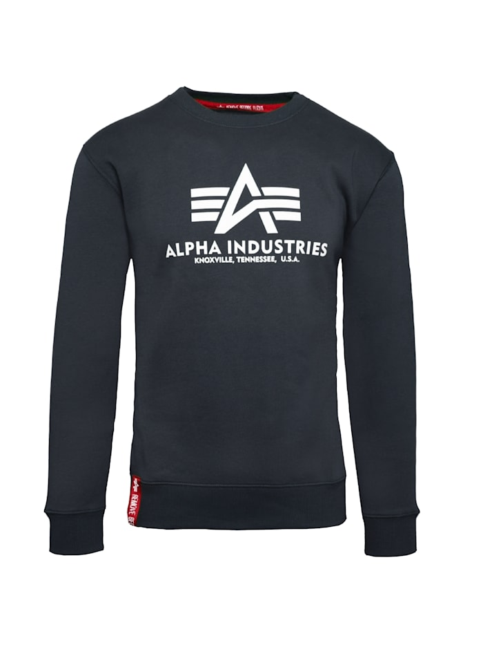Alpha Industries Sweatshirt Basic Sweater, blau