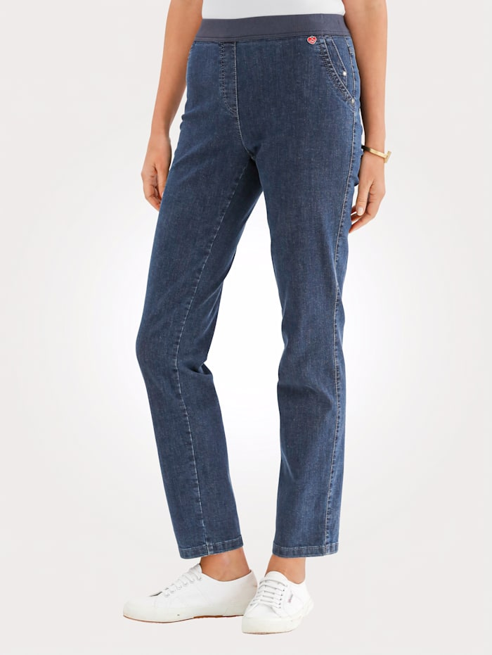 Relaxed by Toni Jeans with elasticated waistband, Blue