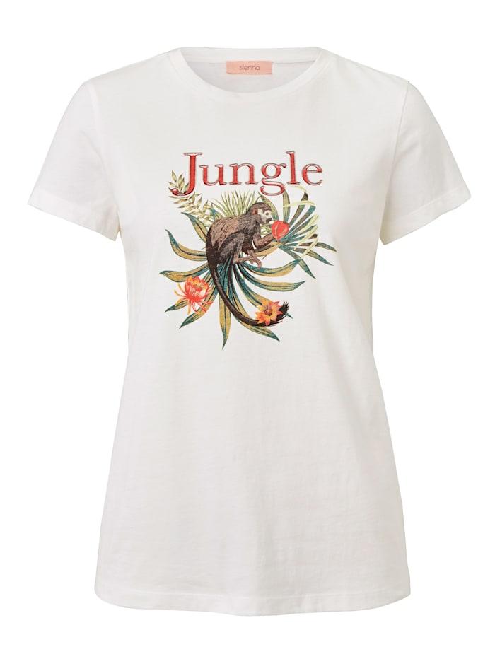 SIENNA T-Shirt mit Print, Off-white