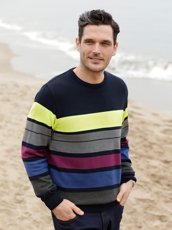 BABISTA Pullover in pflegeleichter Qualität, Marineblau/Grau