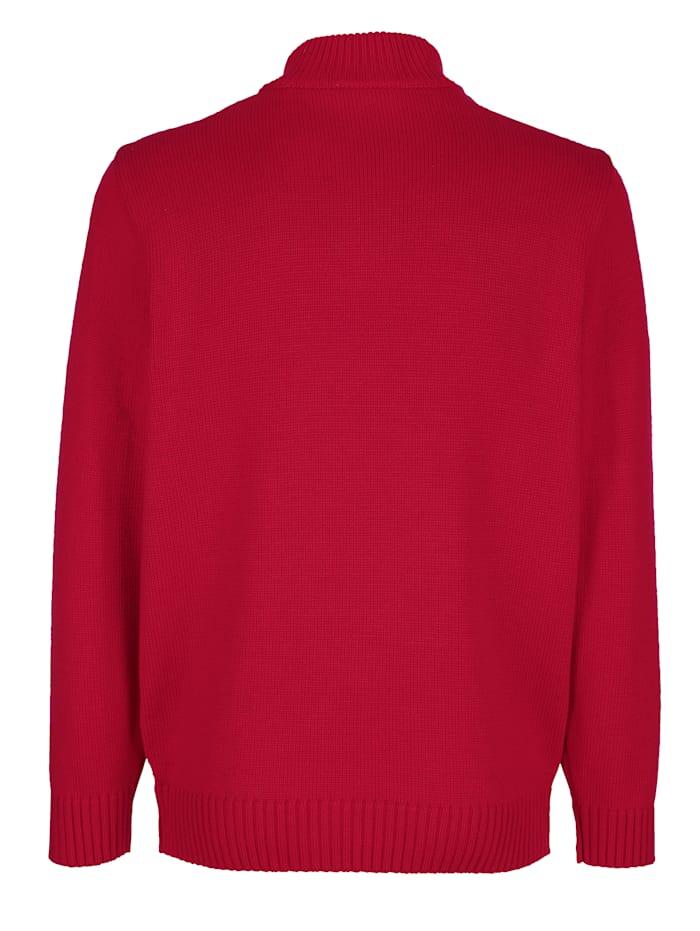 Pullover mit Strickmuster im Vorderteil