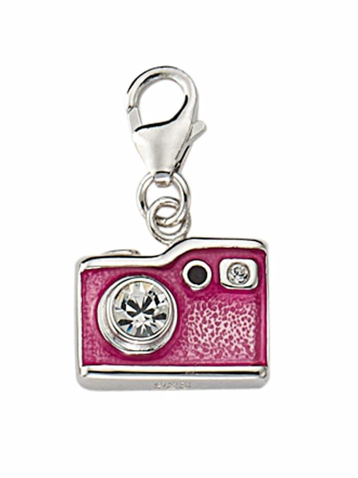 1001 Diamonds 1001 Diamonds Damen Silberschmuck 925 Silber Charms Anhänger Fotoapparat mit Zirkonia, silber