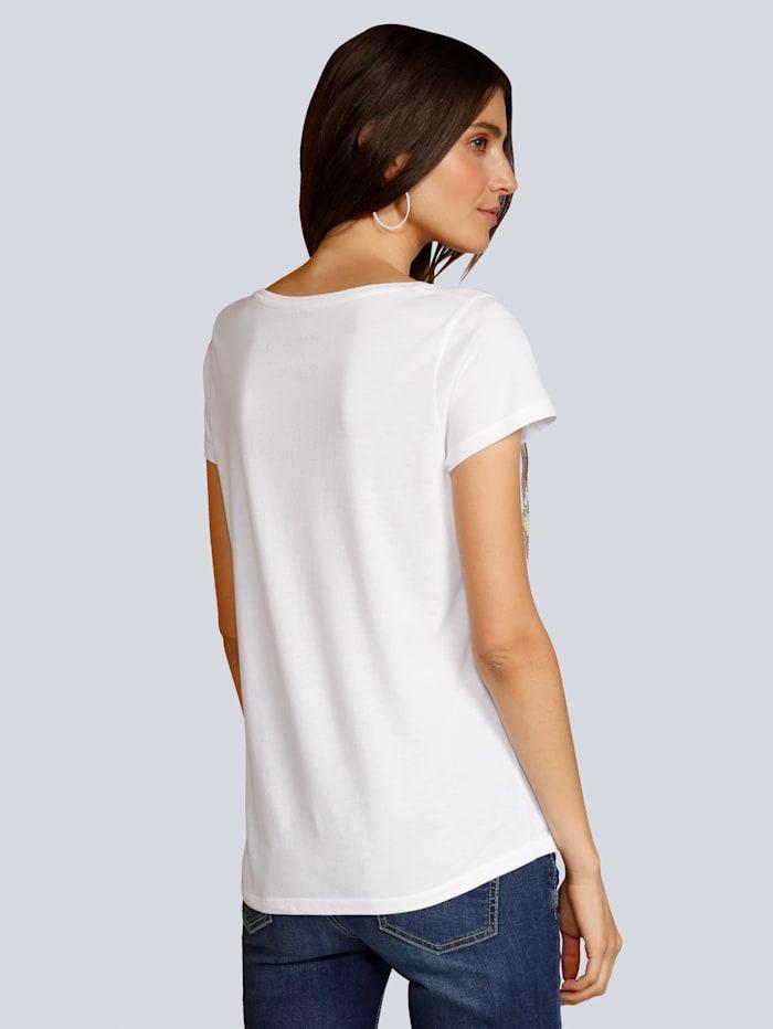 T-Shirt mit Strasssteinen verziert