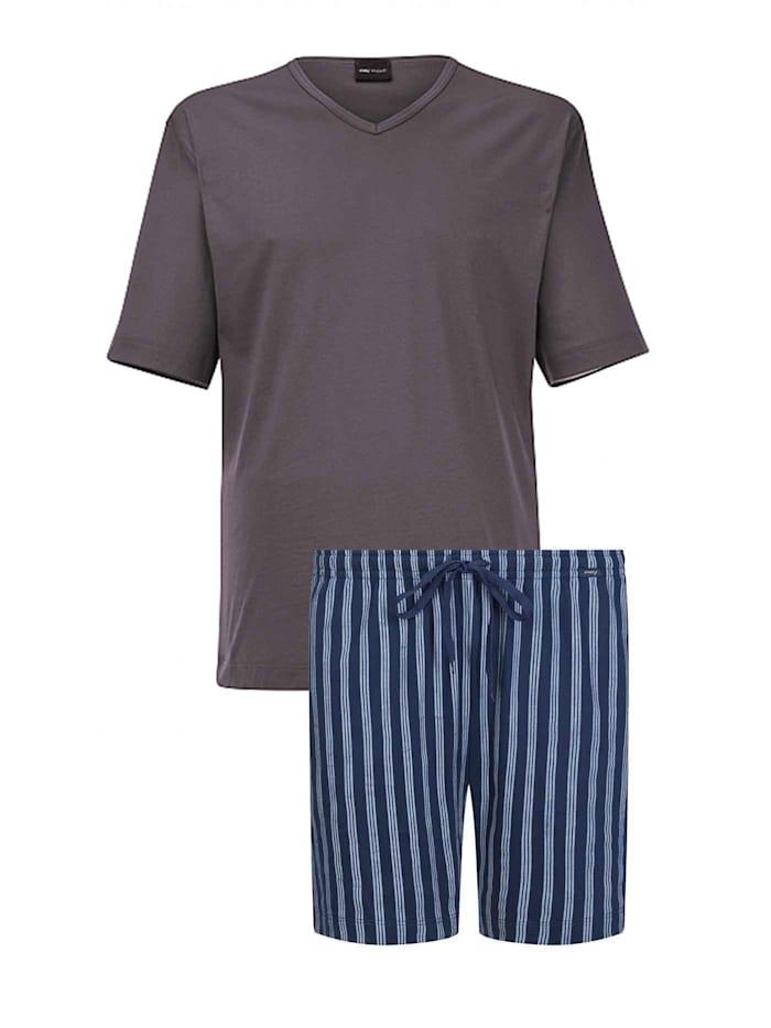 Mey Kurz-Pyjama Made in Europe, soft grey