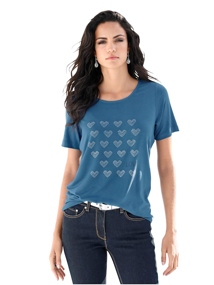 Shirt mit Strasssteindekoration
