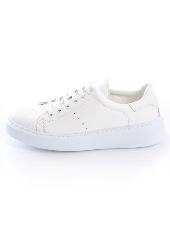 Sneaker met plateauzool