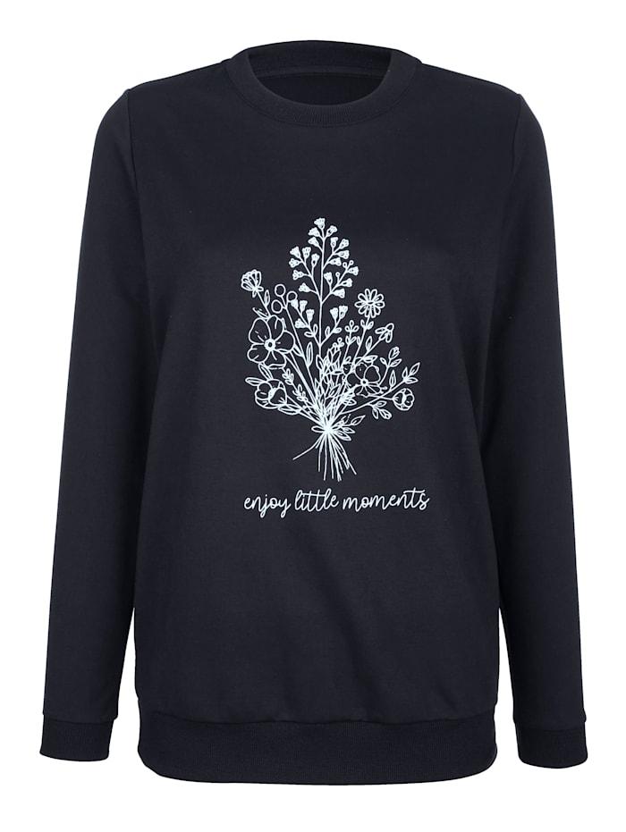 basically you Sweatshirt met bloemenprint, Marine