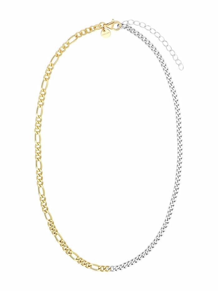 Noelani Kette für Damen, Sterling Silber 925 teil-vergoldet, Bicolor
