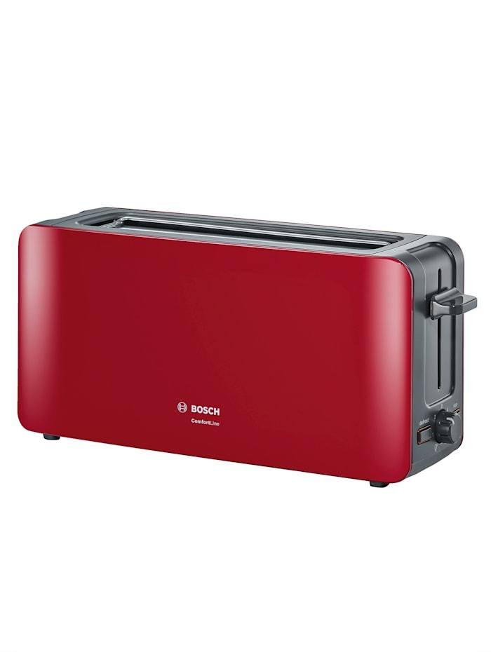Bosch Bosch brödrost med långt rostfack TAT6A004, röd/antracitgrå