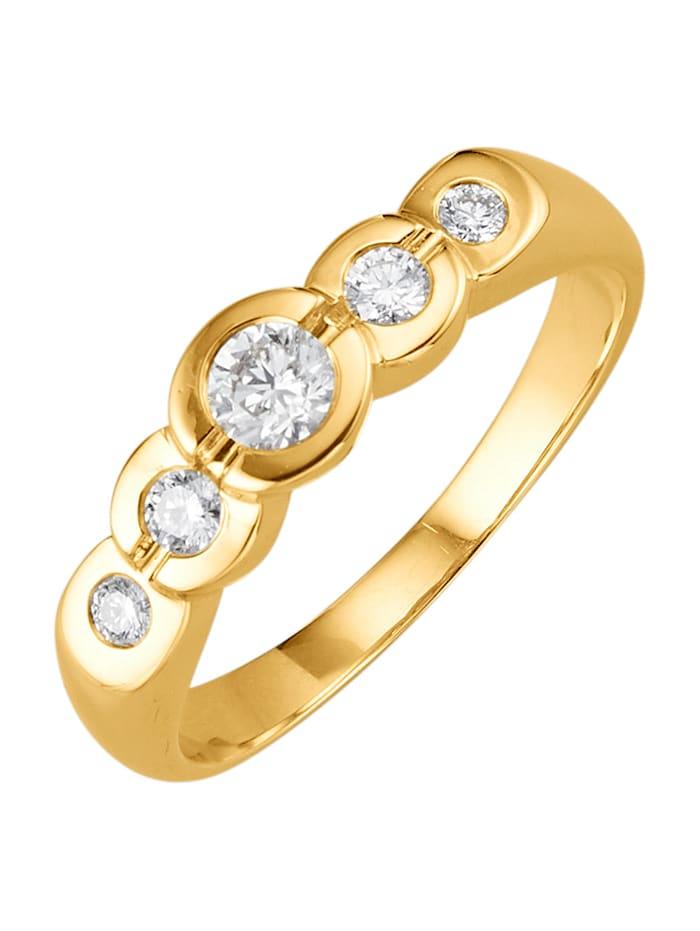 Amara Diamant Damenring mit lupenreinen Brillanten, Weiß